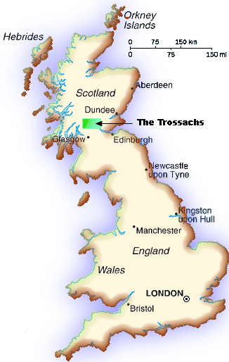 Zoom In Map Of Uk.The Trossachs Scotland Uk Map